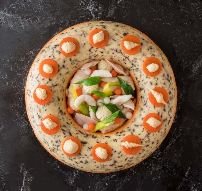 世界一を獲得した料理を味わえる 世界一に輝いたシェフ 関谷健一朗コンクール優勝料理『舌平目のターバン仕立て』