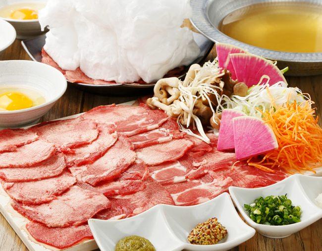 2月9日は肉の月!肉の日!!牛タンの淡雪しゃぶしゃぶを食べ放題でおなか一杯堪能♪