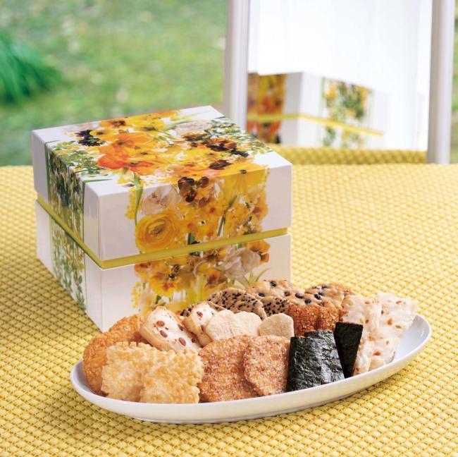 おめでとう、ありがとう、これからもよろしく……相手を想う気持ちを花のパッケージで包んで贈る米菓のギフト『花のル・コリ』 2月15日より期間限定発売
