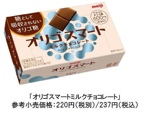 大好きなチョコレートを我慢しない!!糖から健康を考えた「オリゴスマートミルクチョコレート」本日新発売!!