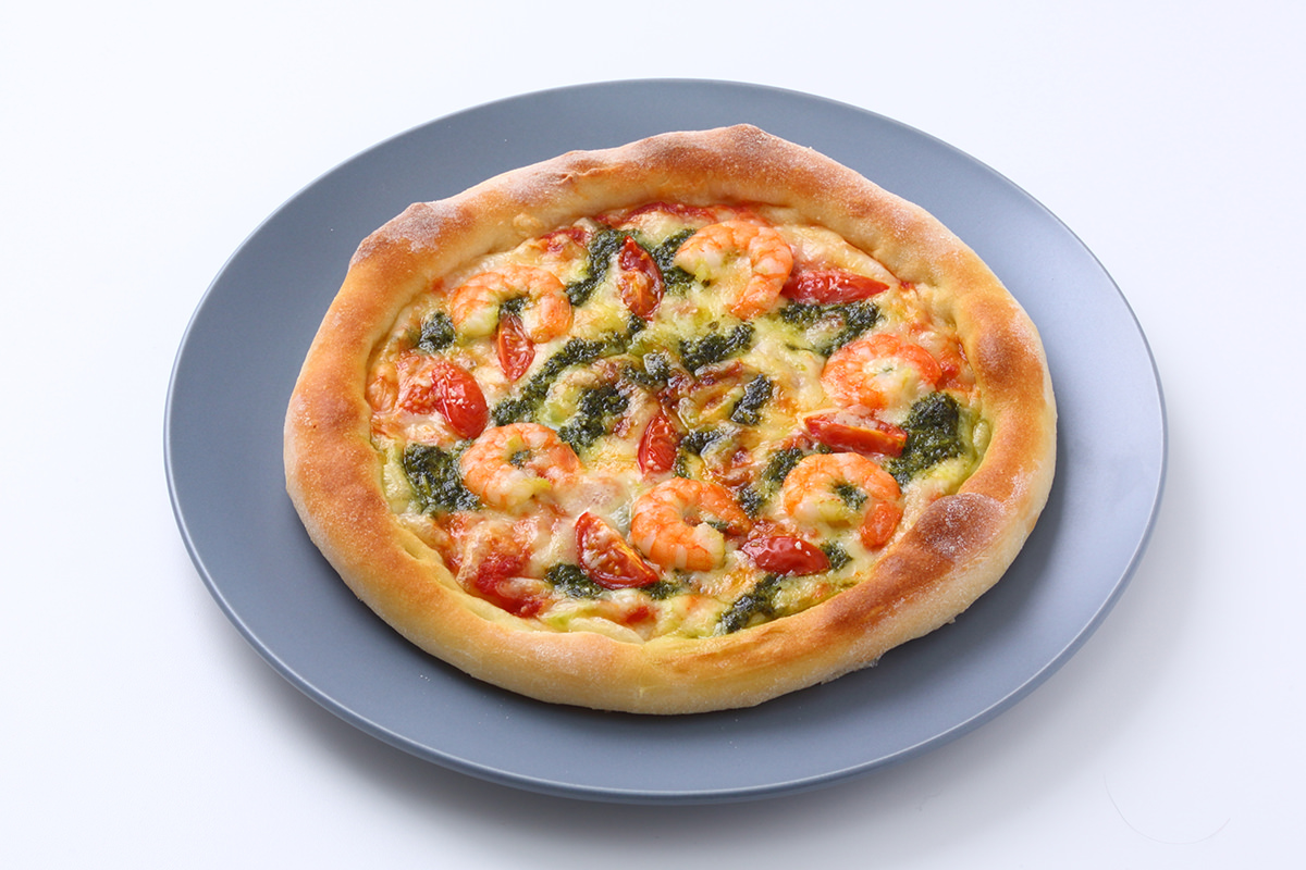 焼きたてピザとフォカッチャのテイクアウト専門店『PIZZA PORT(ピザポート)川西店』バジルシーフード