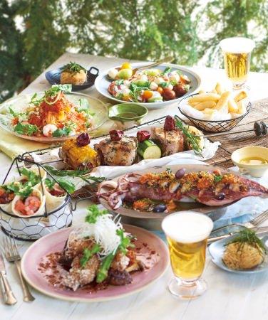 【KIHACHI】ヨーヨー釣りをイメージした前菜やお祭りの屋台メニューをキハチ流にアレンジした料理など。クラフトビールやシャンパンのフリーフローも。