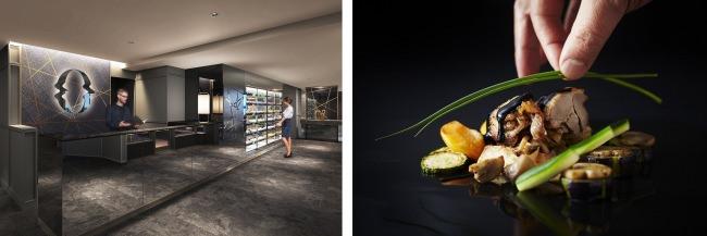 左:レセプション イメージ、右:料理 イメージ