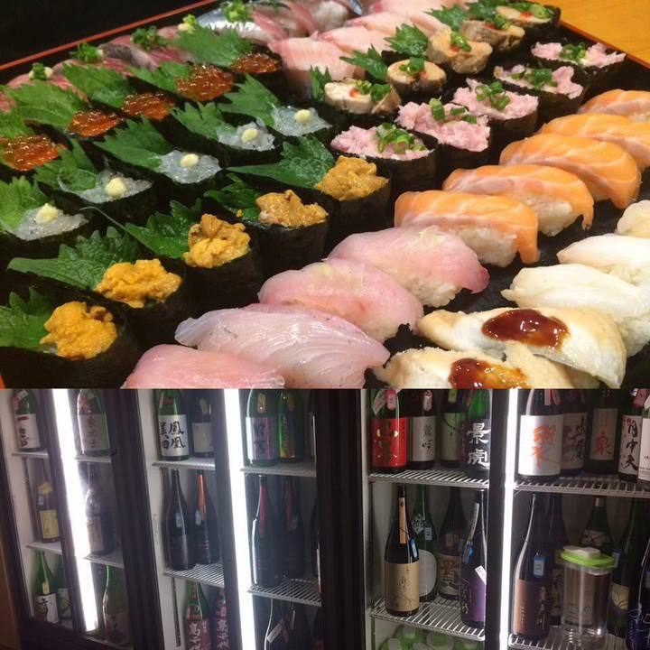 時間制限なし!寿司食べ放題&日本酒80種飲み放題税込4000円!17日間実施!