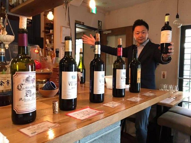 常田諭史とワインたち