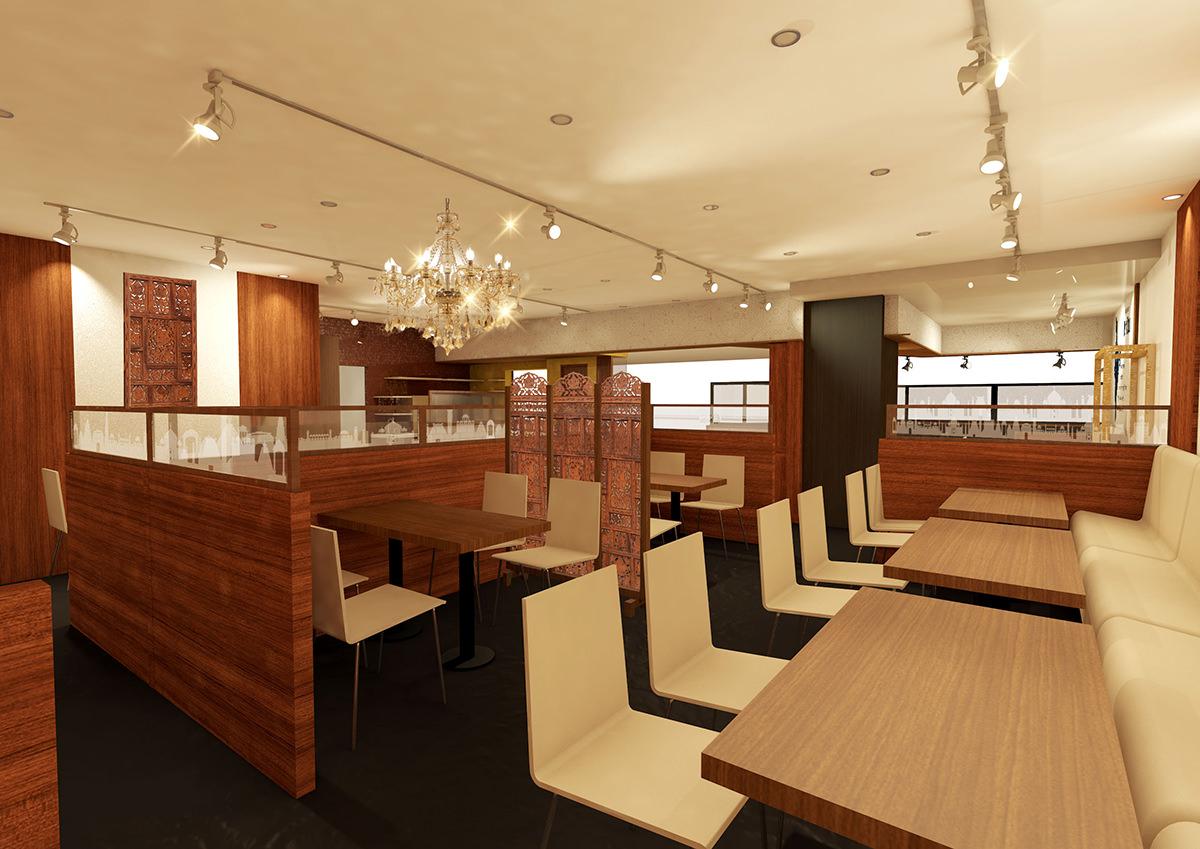 インドレストランBindu リノアス八尾店 内観