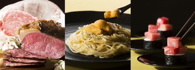 和牛ローストビーフ、生雲丹パスタ、中トロのっけ寿司など全40品「サマーナイトバイキング」