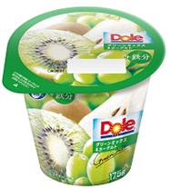 洋梨、白ブドウ、キウイのフレッシュな味わいに鉄分をプラス! 夏にぴったり、たっぷり果肉の脂肪ゼロヨーグルトが新登場 『Dole®グリーンミックス&ヨーグルト+鉄分』