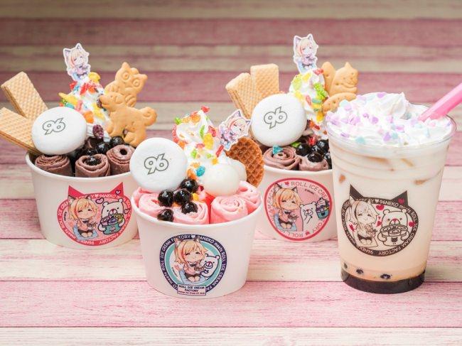 """行列が絶えない「ロールアイスクリームファクトリー」が、""""人気の歌い手""""「96猫」と夢のコラボ!本人がトッピングを選んだ限定アイスを発売!"""