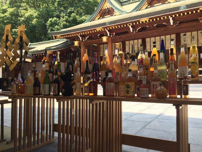 「梅酒奉納式」開催前に行われる式典※写真は西宮神社での奉納式