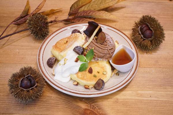 「サンモリッツ・エスカ店」秋の渋皮マロンのパンケーキ発売「高岳店、今池店、金山店」は黒糖タピオカドリンク販売開始