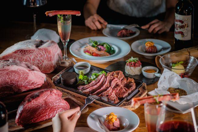 横浜デートで上質な黒毛和牛ステーキを無制限食べ放題!6,500円(税抜)で                見た目にも華やかなディナーを堪能  『横浜バル502』
