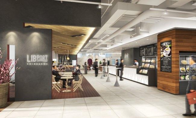 セルフサービスエリア:無添加で健康的な飲食メニューを提供するカフェを併設。