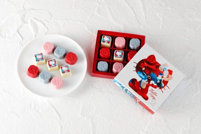 資生堂パーラー、ハローキティ、M / mika ninagawaとのコラボ第3弾は限定デザインボックス入り「花椿チョコレート」!10月1日に発売♪