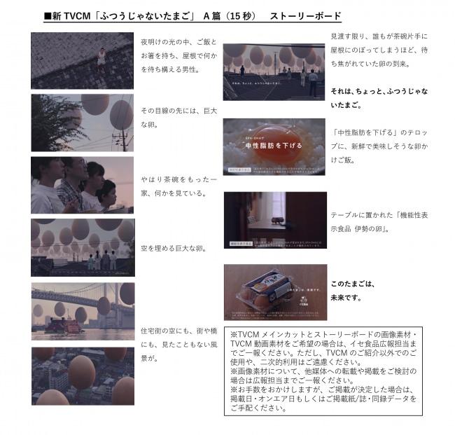 新TVCM「ふつうじゃないたまご」 A篇(15秒)ストーリーボード