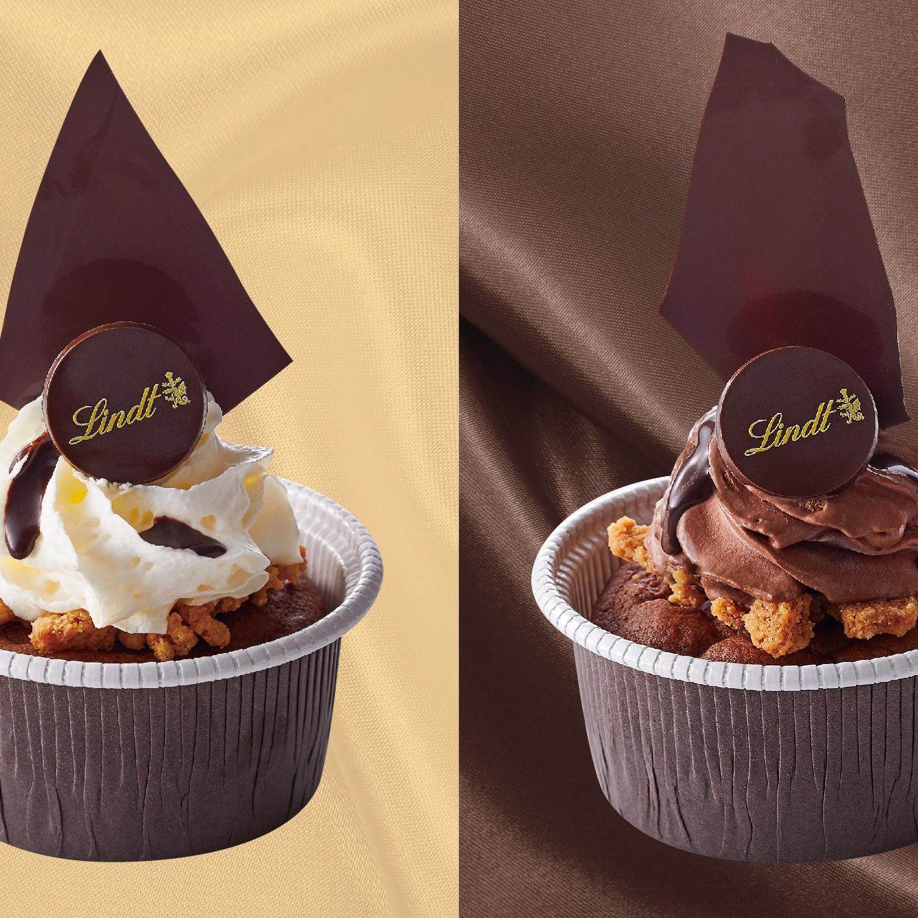 リンツ、温かいショコラデザート「フォンダン オ ショコラ」 とろけるチョコレート生地にふんわりと軽いムースを添えた 「ブラン」と「ノワール」が10月1日発売