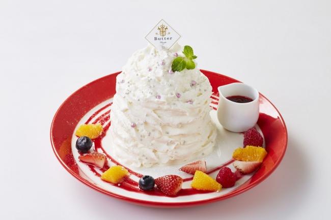 ~幸せの食感!新しいパンケーキに出会える、パンケーキ専門店「Butter」~ 日頃の感謝の気持ちから!「生活応援キャンペーン」スタート 『ホワイトモンスター スフレパンケーキ』