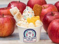 台風19号で被災した農家を食べて支援!日本初のロールアイス専門店が、災害を免れたリンゴを使った「焼きリンゴロールアイス」を販売、11月だけの期間限定で提供開始!