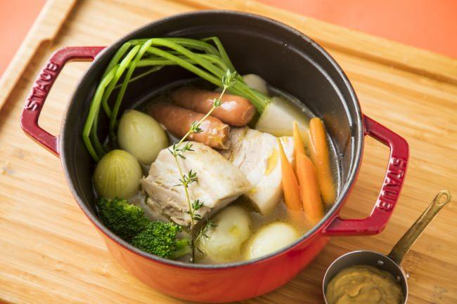 熊本県産りんどうポークと野菜のポトフ オレンジマスタード添え
