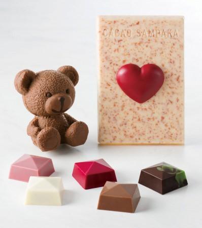 カカオ分40%のミルクチョコでつくった、愛らしさ満点のスモールベア