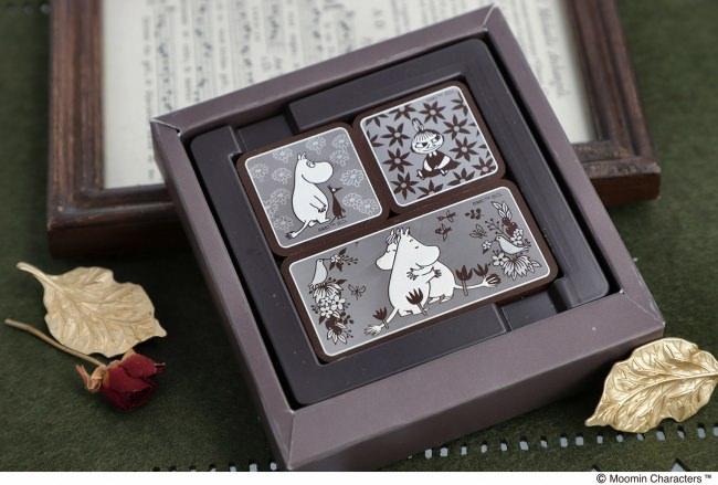ムーミンカフェ新商品、ベルギー産のカレボーチョコレートを使用したムーミンたちの可愛いプレートチョコレートが好評発売中!