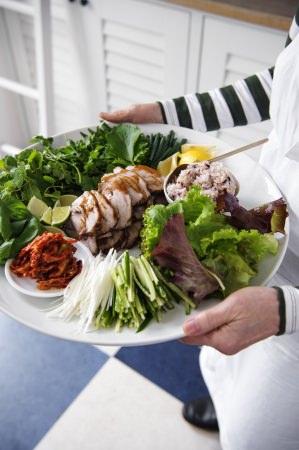 豚肉の黒糖煮と野菜のワンプレート 撮影/竹内章雄