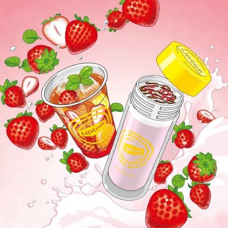 「Lipton TEA STAND」から苺づくしのメニューが登場!