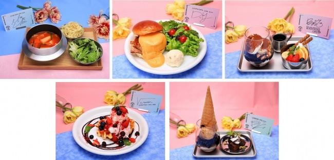 MINGYU:即席トッポッキ、DK:スーパーチーズバーガー、SEUNGKWAN:アフォガード、VERNON:アイスクリームワッフル、DINO:ジェラート風デザート