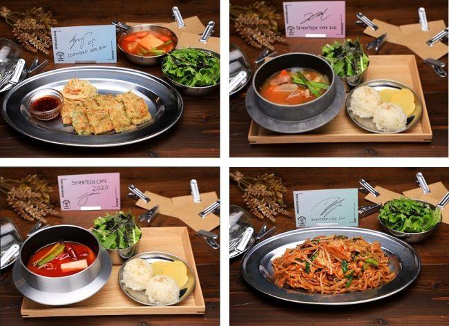 S.COUPS:チヂミ、JEONGHAN:チャドル・テンジャンチゲ 、JOSHUA:マーラータン、JUN:マーラーシャングァオ(麺)