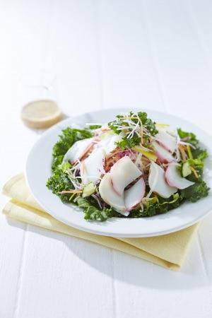 鈴廣かまぼこの炙りとシャッキリ野菜のサラダ