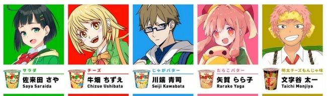 5人のキャラクター(J5)