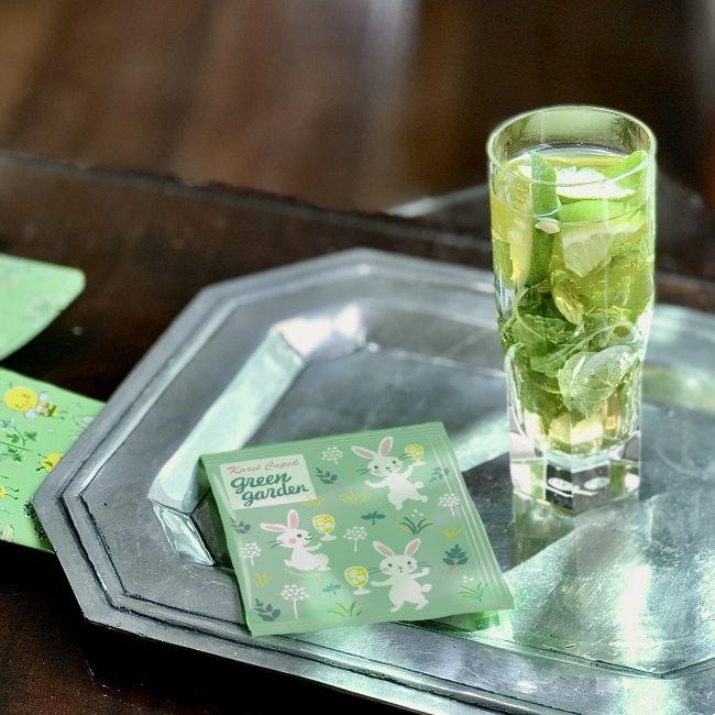 ◆4種類の自然の恵み:ネトル、エルダーフラワー、レモングラス、今年はスペアミントも! グレープフルーツのジューシーな香り