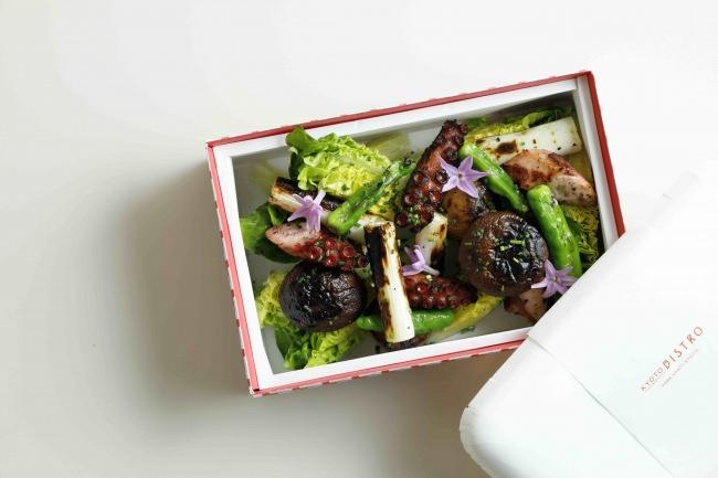 真蛸の炭火焼き 野菜のサラダ 1,800円