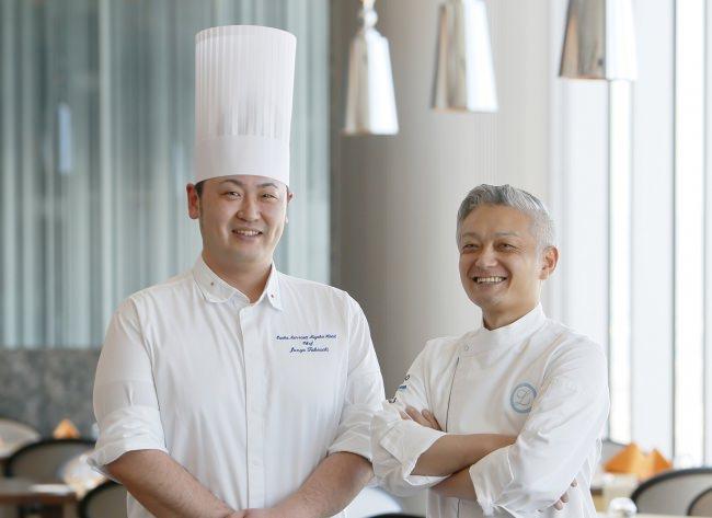ポンテベッキオ出身の二人のシェフがイタリア料理の魅力と、笑顔になる食事を提案いたします。  左/欧風料理シェフ 竹内 右/池邉シェフ