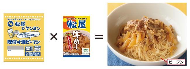 新しい時代の牛丼の食べ方「牛めしビーフン」