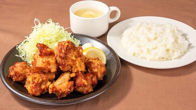 大からあげセット(若鶏の唐揚げ 10個+ライス&日替わりスープセット)