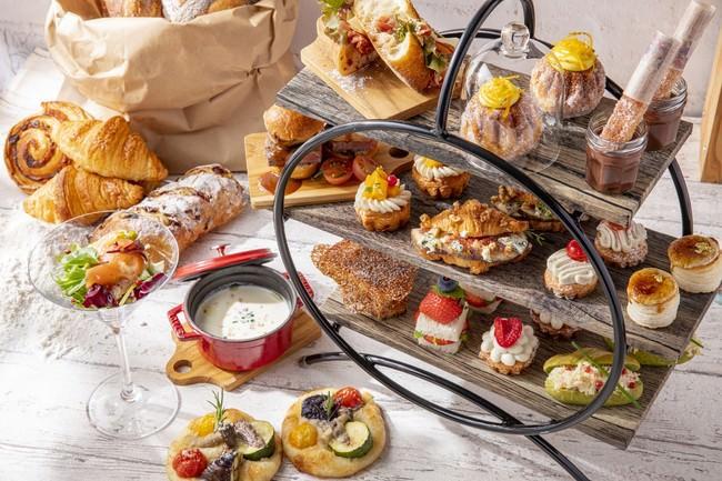 おかしパンとサンドイッチのアフタヌーンティーセット『プティ・ブーランジェリー』