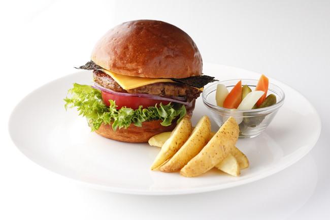 「SATSUKI新東京大豆ミートバーガー」 ※ビュッフェサイズで提供いたします