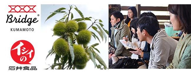熊本県の食材を使用した「石井食品の栗ごはん:今年採れたやまえ村の栗」や、野菜を食べる玄米おかゆ「potayu(ぽたーゆ)」など売上の一部を、被災地支援の活動金として寄付