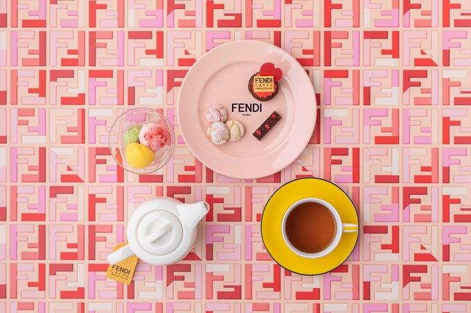連日行列必至!『FENDI』の期間限定コラボカフェにバレンタインメニューが登場