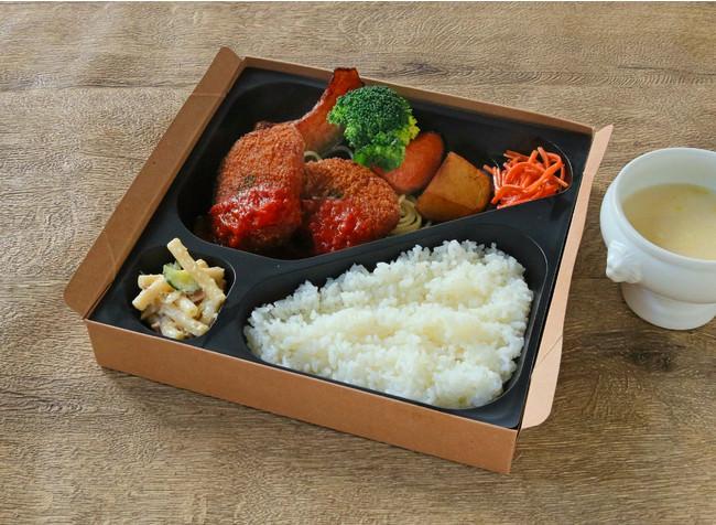 自家製カニクリームコロッケ定食   (季節のスープ付き) ¥1500
