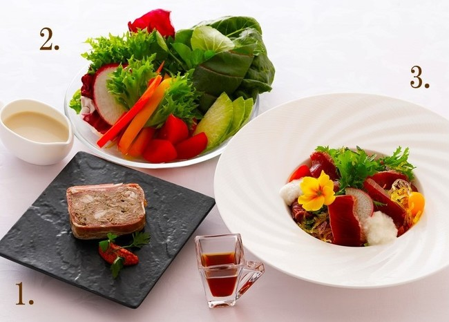 ホテルメイドの惣菜が充実(皿盛りイメージ)
