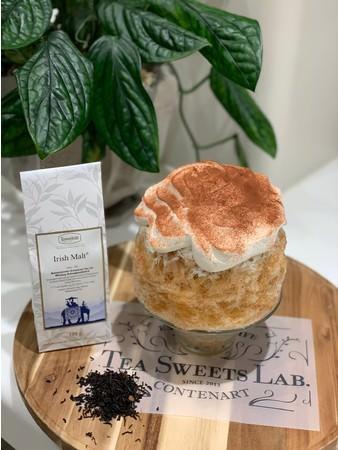 当店大人気のアイリッシュモルトの紅茶のかき氷