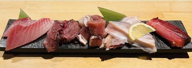 焼肉に例えるとホルモンのようなマグロの希少部位は、一度食べるとやみつきになる驚きの美味しさ。