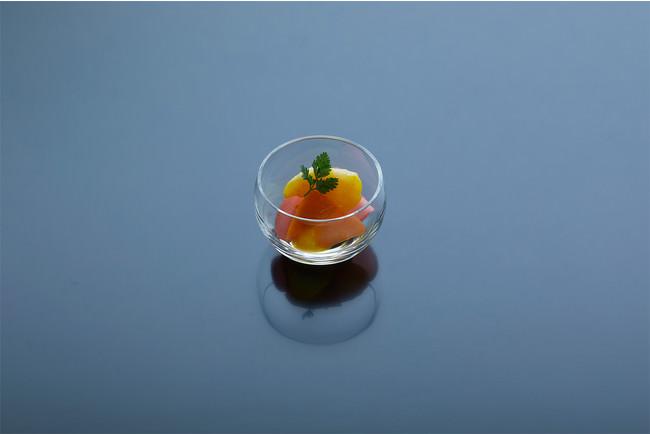 真珠貝柱の柑橘風味