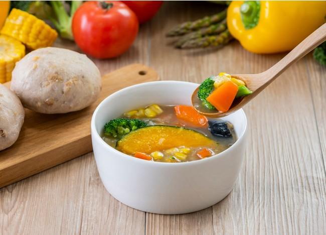 【累計出荷数10万食突破】ベジ活スープ食、「野菜を楽しむスープ食」に商品名変更 新たに4種類の新メニュー追加