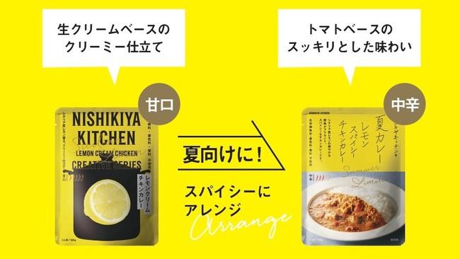 レモンクリームチキンカレーとレモンスパイシーチキンカレー