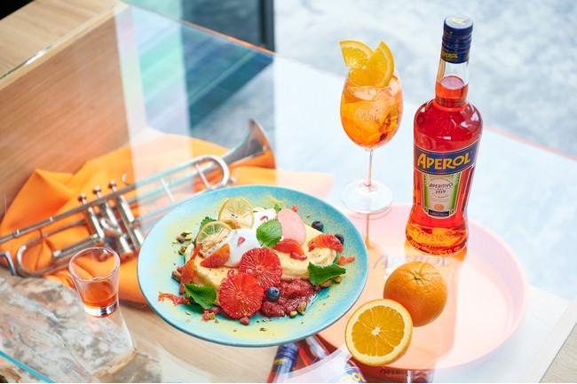 みなとみらい「The Blue Bell」×APEROL 夏を感じる限定パンケーキ&スペシャルカクテルが6/21(月)より新登場!7月よりテラス席も毎日営業!
