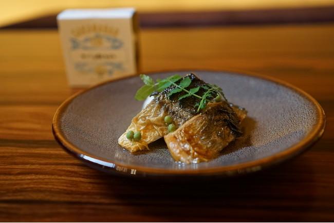 焼き鯖と実山椒のオイル漬け