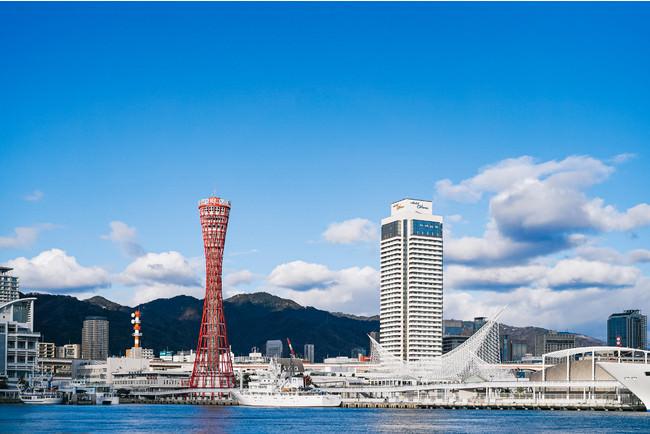 OCEAN PLACE(右下)とポートタワー